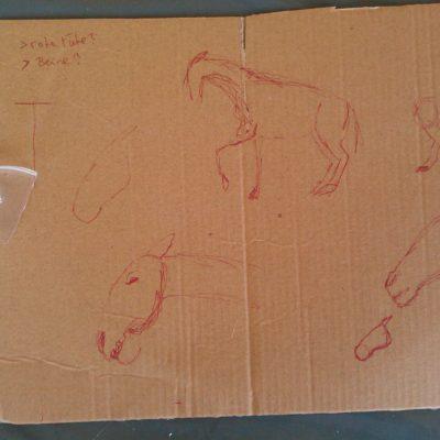 Skizzen für Pferdeskulptur