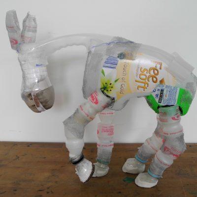 Zwischenschritt, Pferde Skulptur,