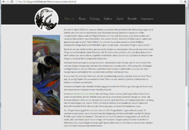 Webseite, Webdesign, Züchter, Ziegen,