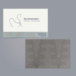 Visitenkarte, Pferdetrainer, Logo