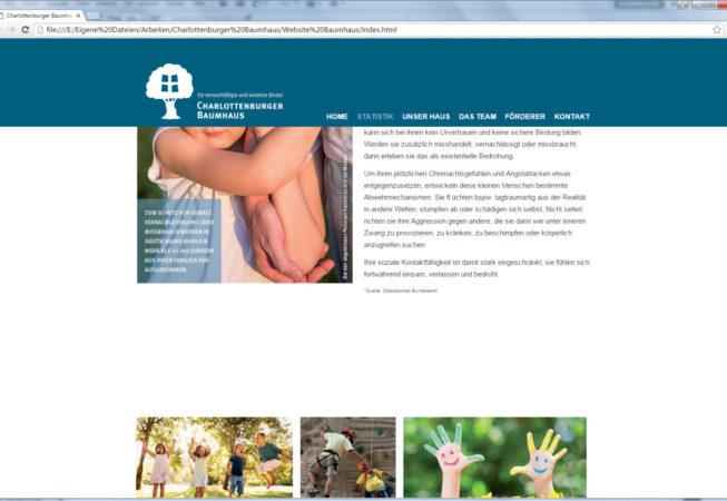 Browserdarstellung der Webseite