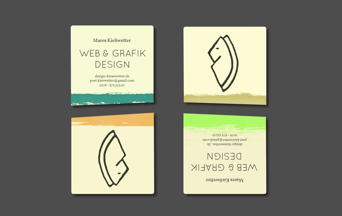 Visitenkarte Design By Kiesswetter